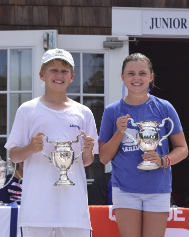 Lawrence Cup Winners: James Melkonian and Maggie McCarthy.