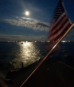 The moon played its part beautifully. --Suzanne Lightbourn Photo