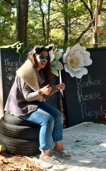 Cara Fernandes as a Raccoon