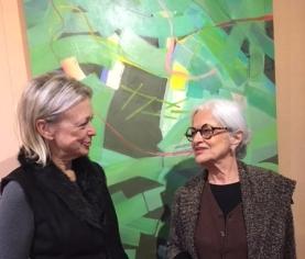 Lulie Morrisey and artist Barbara Groot.