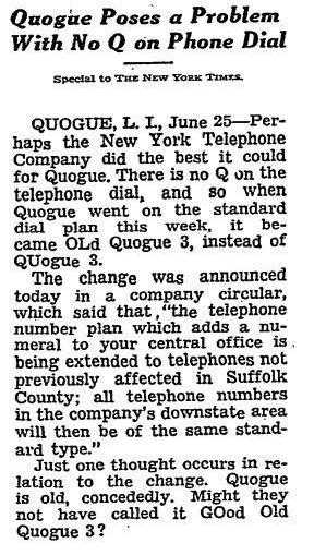 Q Telephone Exchange 1952