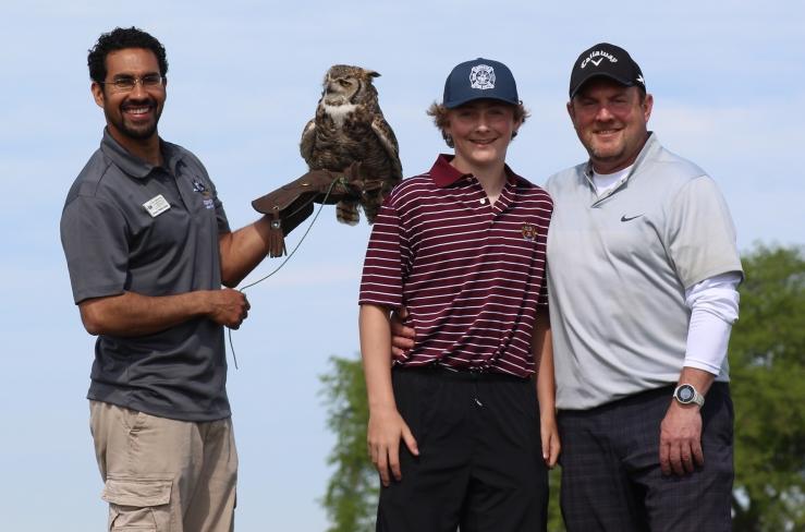 Environmental Educator Tonito Valderrama, Jr. Golf Chair Andre Insalaco and Golf Chair Paul Insalaco