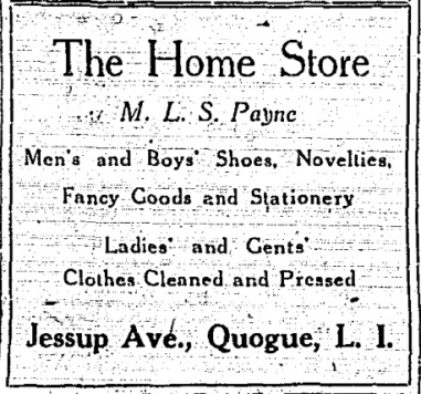 QHS Home Store ad July211922