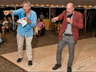 Bill Ritter & Jim Cramer co-auctioneering a very exciting Live Auction
