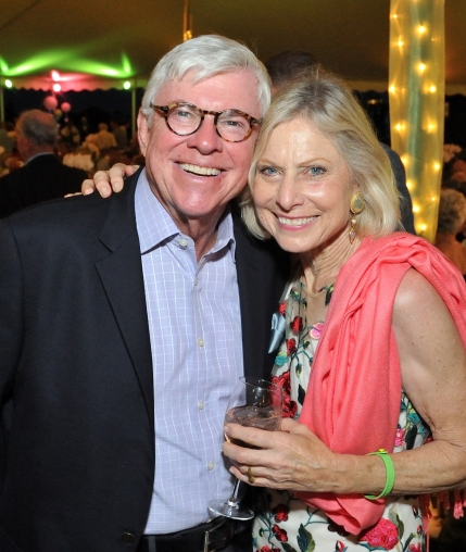 L-RL George Lynch and Joy Flynn attend the East End Hospice Summer Gala 2018 in Quogue, NY. (Photo by Stephen Smith/Guest of a Giuest)
