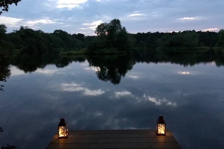 lanterns on dock