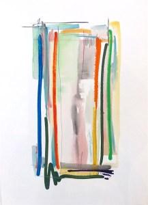Melinda Zox, _Color Streak_, Mixed media on paper, 30_ x 22.5_ (1)