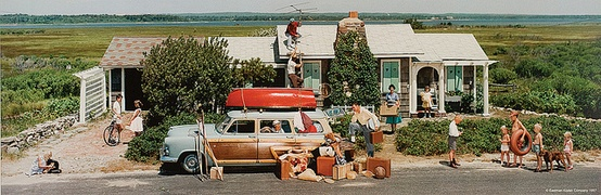 Norman Rockwell 1957 Closing a Summer Cottage, Quogue, New York