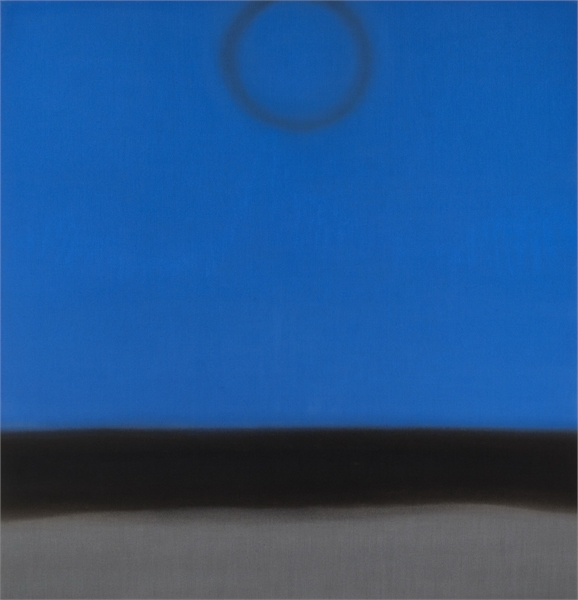 Untitled (Colbalt_Silver), 2016, Oil on linen, 60_ x 58_