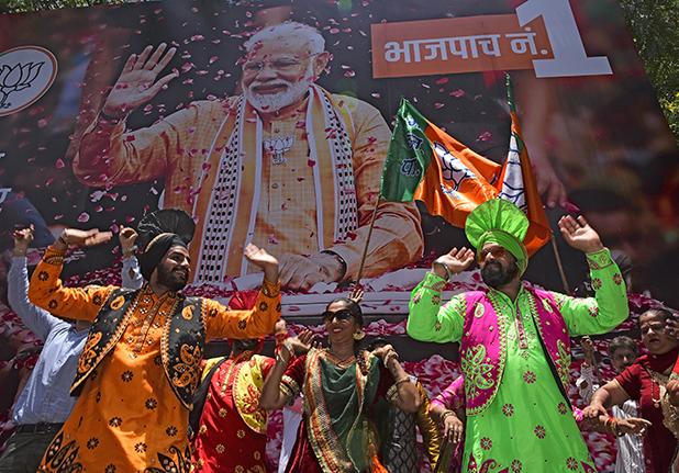 BJP Workers Celebrate Massive Victory In Lok Sabha Elections 2019